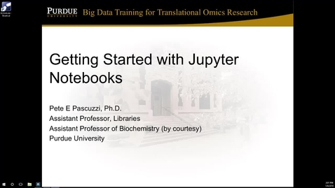 Getting started with Jupyter notebooks