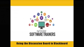 Thumbnail for entry Creating Discussions in Blackboard Learn