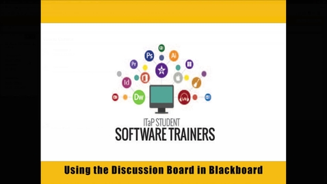 Creating Discussions in Blackboard Learn