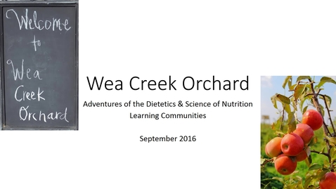 Thumbnail for entry Wea Creek Orchard