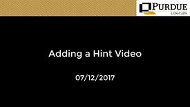 Thumbnail for entry LON-CAPA: Adding a Hint Video