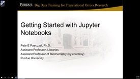 Thumbnail for entry 1080 Getting Started With Jupyter