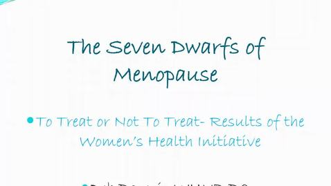 Thumbnail for entry Menopause and WHI Study