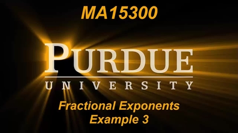 Thumbnail for entry Fractional Exponents Example 3