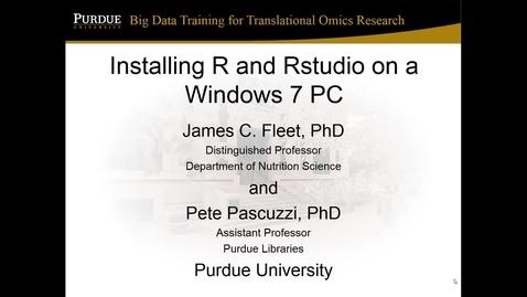 V3b R and RStudio Windows installation (2017)