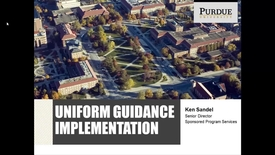 Thumbnail for entry Uniform Guidance Presentation