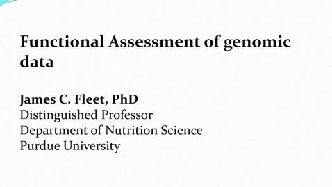 Thumbnail for entry Functional Assessment of genomic data 1-2-18