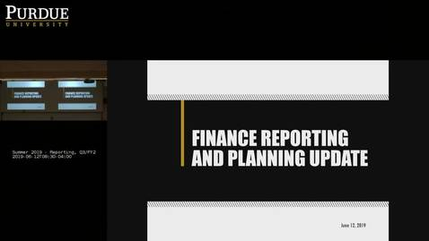 Summer 2019 - Reporting, Q3/FY20 Plan Debrief