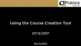 Thumbnail for entry LON-CAPA: Using the Course Creation Tool