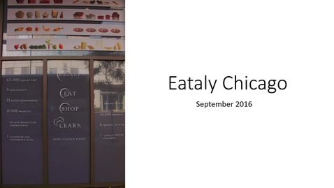 Thumbnail for entry Eataly Chicago