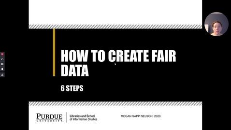 Thumbnail for entry How to Create FAIR Data