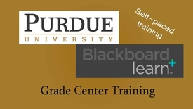 Thumbnail for entry G01-Intro to Blackboard Learn Grade Center