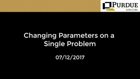 Thumbnail for entry LON-CAPA: Changing Parameters on a Single Problem