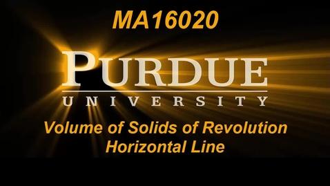 Thumbnail for entry Volume of Solids of Revolution Horizontal Line