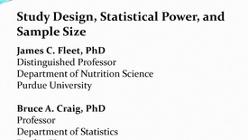 Thumbnail for entry Understanding Study Design and Statistical Power