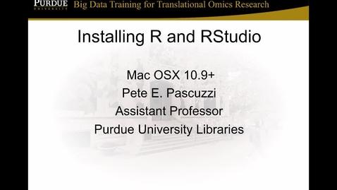 V3a Installing R and RStudio MacOSX (2017)