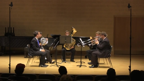 Thumbnail for entry IPFW Brass Quintet, Ewald Quintet No. 3, I