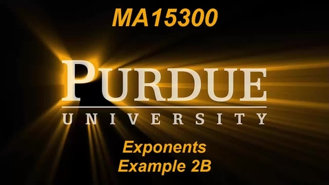 Thumbnail for entry Exponents Example 2B