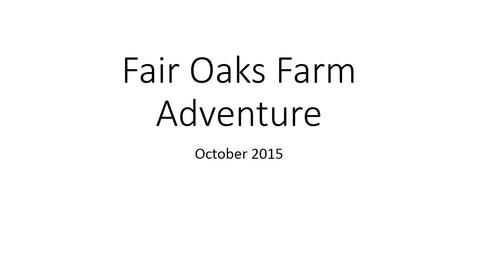 Thumbnail for entry Fair Oaks Farm Adventure - Dietetics Learning Community