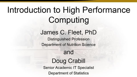 A basic introduction to high performance computing