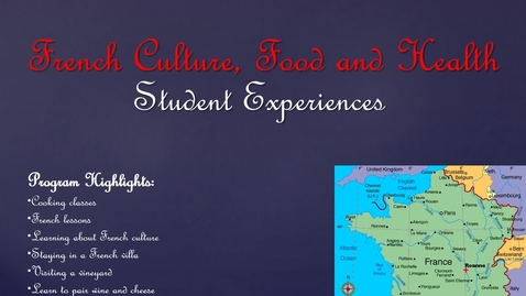 Thumbnail for entry Study Abroad in France Pictures