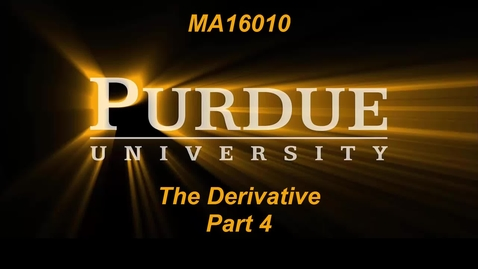 The Derivative Part 4