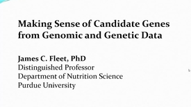 Thumbnail for entry Making sense of candidate genes identified in omics analysis