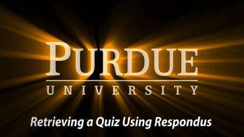 Replay - Exporting Quizzes out of Respondus