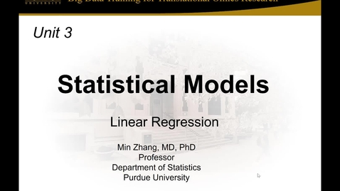 Thumbnail for entry Unit 3 Session 2_Linear Regression