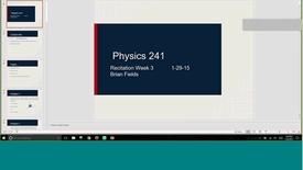 Thumbnail for entry Physics 241 D027 1-25-17 Rec 3
