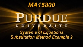 Thumbnail for entry Systems of Equations Substitution Method Example 2 MA15800