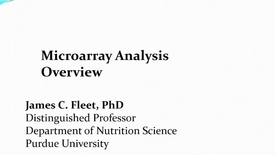 Thumbnail for entry Microarray analysis overview