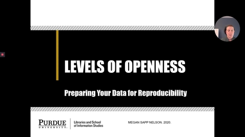 Thumbnail for entry Levels of Data Openness