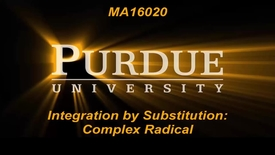 Thumbnail for entry Integration by Substitution:Complex Radicals