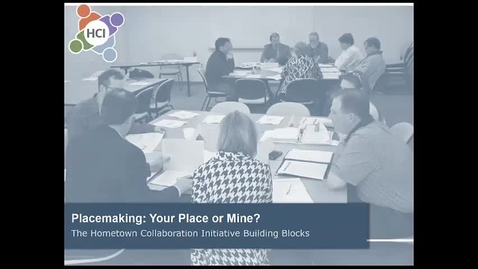 Thumbnail for entry HCI Building Block Options: Placemaking Video