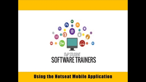 Thumbnail for entry Using the Hotseat Mobile Application