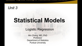 Thumbnail for entry Unit 3 Session 1_Logistic Regression
