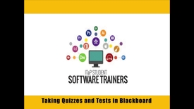 Thumbnail for entry Completing a Quiz or Test in Blackboard Learn