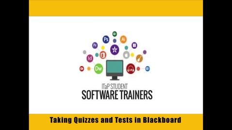 Completing a Quiz or Test in Blackboard Learn