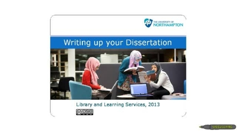 Thumbnail for entry Writing up your Dissertation