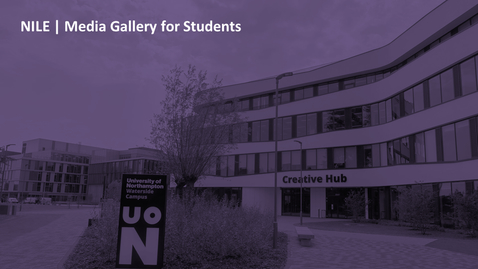 Thumbnail for entry How do students add content to a Media Gallery?