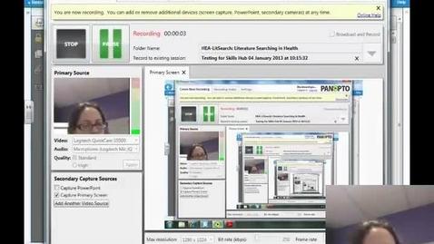 Thumbnail for entry Testing for Skills Hub 04 January 2013 at 10:15:32