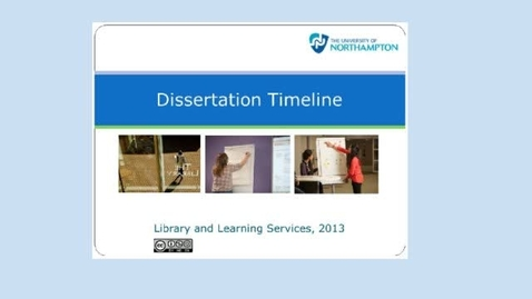 Thumbnail for entry Dissertation Timeline