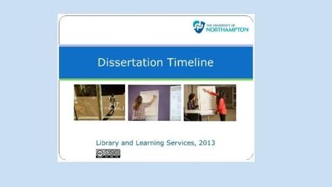 Thumbnail for entry Dissertation Timeline