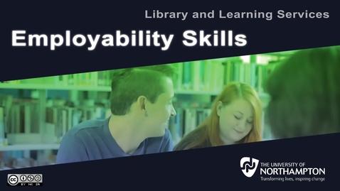 Thumbnail for entry Employability Skills