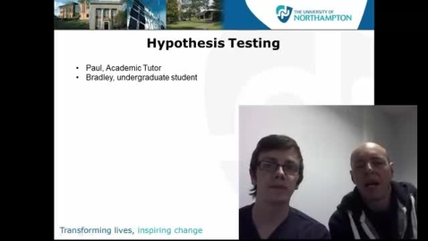 Thumbnail for entry Hypothesis Testing