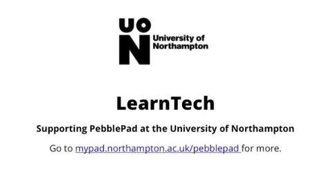 Thumbnail for entry Pebblepad Dashboard & Toolbar