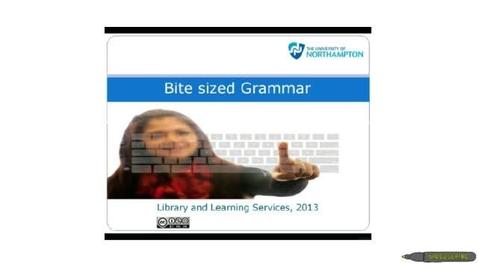 Thumbnail for entry Bite sized Grammar