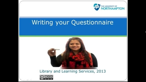 Thumbnail for entry Writing your questionnaire