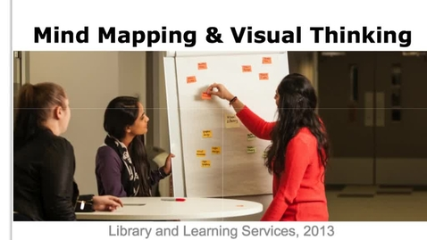 Thumbnail for entry Mind Mapping and Visual Thinking